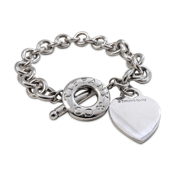 Tiffany & Co. Jewelry - Tiffany & Co. Link Heart Tag Bracelet St. Silver